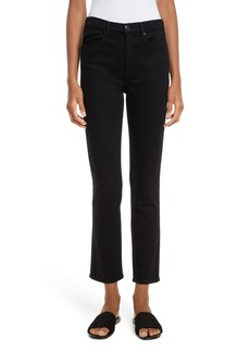 rag & bone/JEAN High Waist Cigarette Leg Jeans (Coal)