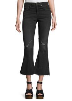 rag & bone/JEAN High-Waist Cropped Flare-Leg Jeans
