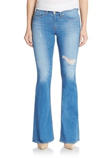 rag & bone/JEAN The High-Rise Distressed Flare Jeans
