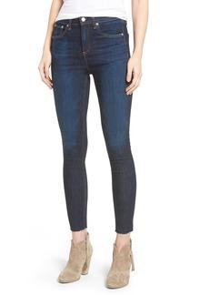 rag & bone/JEAN High Waist Skinny Ankle Jeans (Mad River)