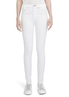 rag & bone/JEAN High Waist Skinny Jeans (Blanc)