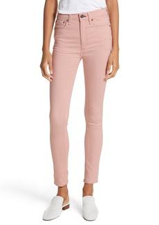 rag & bone/JEAN High Waist Skinny Jeans (Blush Twill)