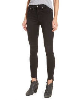 rag & bone/JEAN High Waist Skinny Jeans (Washed Black Commodore)
