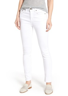 rag & bone/JEAN High Waist Step Hem Slim Boyfriend Jeans (Aged Bright White)