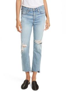 rag & bone/JEAN High Waist Step Hem Stove Pipe Jeans (Prospector)