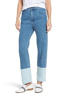 rag & bone/JEAN High Waist Straight Leg Jeans (Indigo)