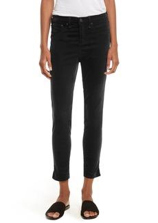 rag & bone/JEAN High Waist Velvet Skinny Jeans