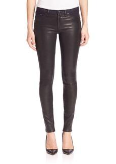 rag & bone/JEAN Hyde Leather Multi-Media Denim Back Skinny Pants