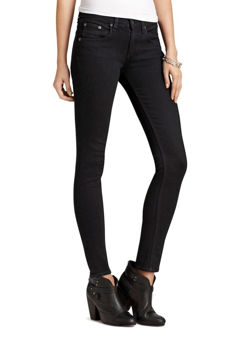 rag & bone Jeans - Skinny Jeans in Coal Wash