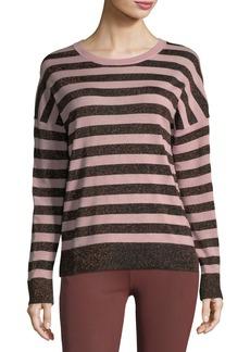 June Crewneck Long-Sleeve Striped Sweater