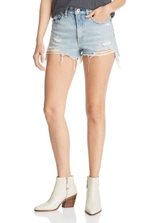 rag & bone Justine Distressed Denim Cutoff Shorts in Tab with H