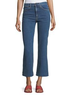 rag & bone/JEAN Justine High-Rise Cropped Wide-Leg Jeans