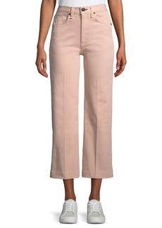 rag & bone/JEAN Justine High-Rise Wide-Leg Crop Jeans