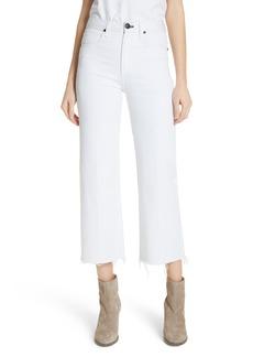rag & bone/JEAN Justine High Waist Ankle Wide Leg Trouser Jeans