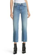 rag & bone Justine High Waist Crop Wide Leg Jeans