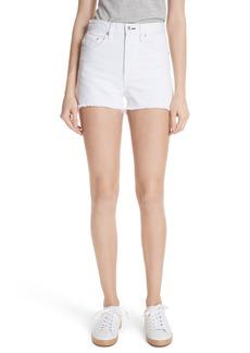 rag & bone/JEAN Justine High Waist Cutoff Denim Shorts