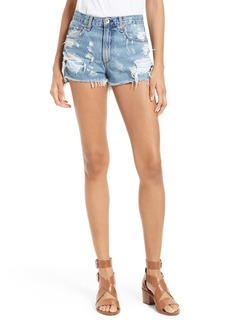 rag & bone Justine High Waist Cutoff Denim Shorts (Brokenland)