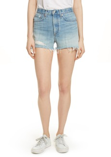 rag & bone/JEAN Justine High Waist Cutoff Denim Shorts (Duffs)