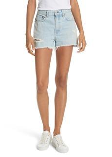 rag & bone/JEAN Justine High Waist Cutoff Denim Shorts (Glena)