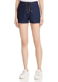 rag & bone/JEAN Lace-Up Denim Shorts in Resin