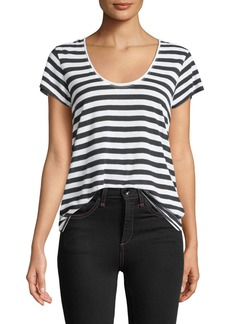 Rag & Bone Laila Striped Scoop-Neck Tee