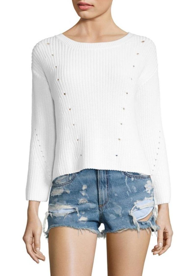 rag & bone/JEAN Lara Rib-Knit Cotton Sweater