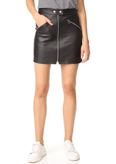 Rag & Bone/JEAN Leather Racer Skirt