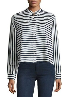 rag & bone/JEAN Leeds Striped Linen Blouse