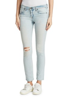 Rag & Bone Light Distressed Skinny Jeans