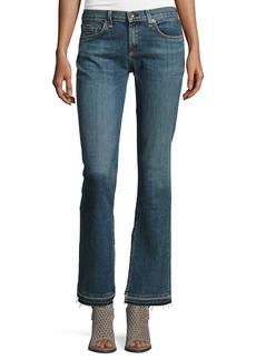 rag & bone/JEAN Lottie Side-Slit Boot-Cut Jeans