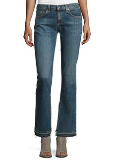 rag & bone/JEAN Lottie Side-Slit Boot-Cut Jeans