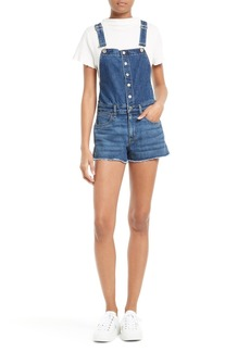 rag & bone/JEAN Lou Denim Short Overalls (Bluebird)