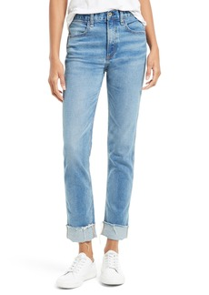 rag & bone/JEAN Lou High Waist Boyfriend Skinny Jeans (Blue Hill)