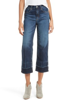 rag & bone/JEAN Lou High Waist Crop Wide Leg Jeans (Clermont)