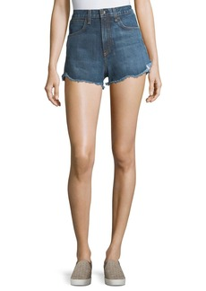 rag & bone/JEAN Lou High-Waist Cutoff Denim Shorts