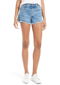 rag & bone/JEAN Lou High Waist Cutoff Denim Shorts (Bluehill)