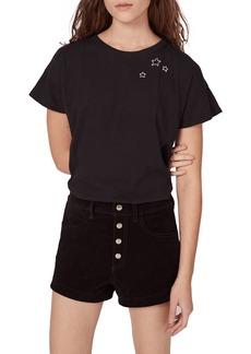 rag & bone/JEAN Lou High Waist Suede Shorts