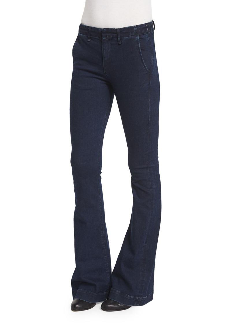 rag & bone/JEAN Low-Rise Bell-Bottom Trousers