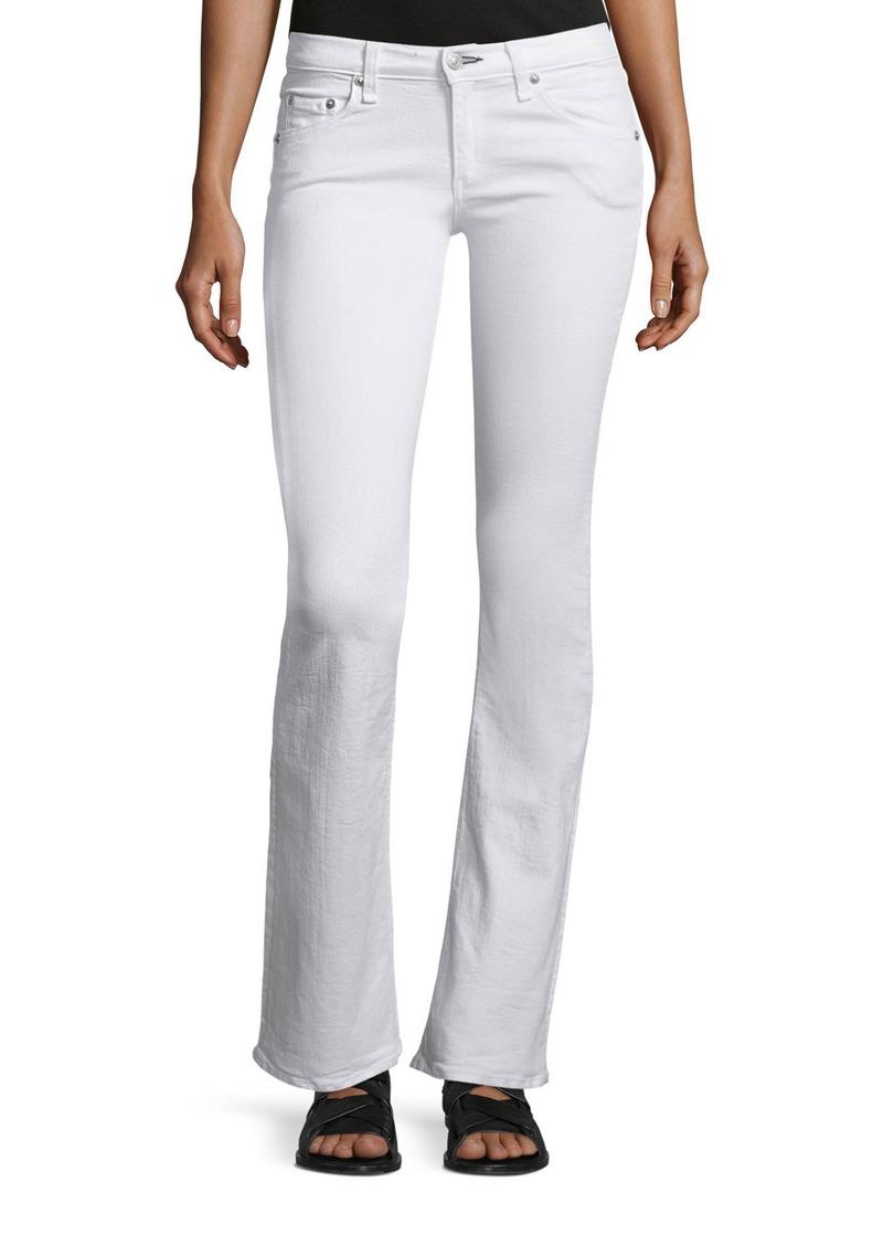 rag & bone/JEAN Low-Rise Boot-Cut Jeans