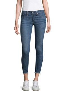 rag & bone/JEAN Lucky Rouge Mid-Rise Skinny Jeans With Frayed Hem