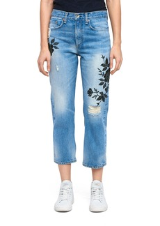 rag & bone/JEAN Marilyn Crop Jeans (Ramona Embroidery)