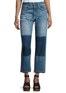 rag & bone/JEAN Marilyn High-Rise Buckle Back Denim Jeans