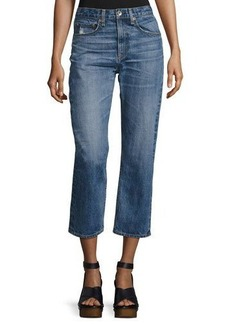 rag & bone/JEAN Marilyn High-Rise Cropped Straight-Leg Jeans