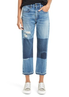 rag & bone/JEAN Marilyn High Waist Buckle Back Crop Jeans (Albright)