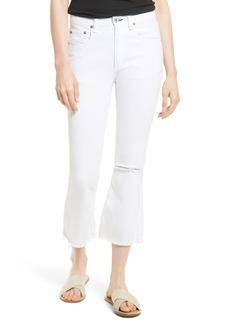 rag & bone/JEAN Marilyn High Waist Crop Flare Jeans