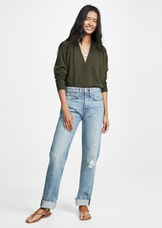 Rag & Bone/JEAN Maya High-Rise Ankle Straight Jeans