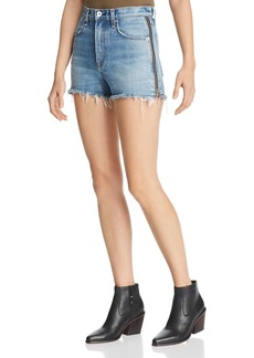 rag & bone Maya Side-Zip Denim Cutoff Shorts in Medland