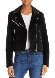 rag & bone/JEAN Mercer Velvet Motorcycle Jacket