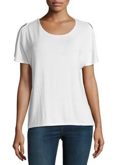 rag & bone/JEAN Mia Split-Sleeve Jersey Tee
