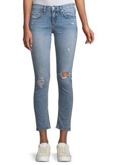 rag & bone/JEAN Mid-Rise Cropped-Ankle Skinny Jeans